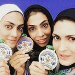 تصویری از سه خواهر که برای ایران مدال گرفتند