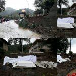 وقوع سیل در رامسر و تخریب قبرستان