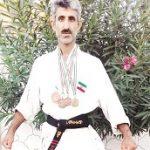 رفتگر 45 ساله نکایی قهرمان کاراته ایران شد (+عکس)