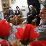 حضور مشترک فرمانداران نکا و میاندورود در منزل شهید باقری