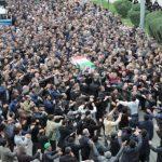 تشییع پیکر پدر شهیدان طوسی با حضور مسئولین استانی