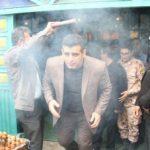 مراسم بدرقه کاروان قهرمانان ورزشی مازندران عازم به کربلا