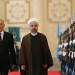 استقبال رسمی رییس جمهوری قزاقستان از روحانی