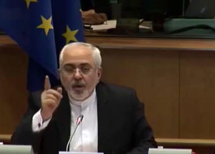 فیلم | حرفهای شنیدنی ظریف در پارلمان اروپا در دفاع از برنامه موشکی ایران