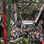 گزارشی از تشییع شهدای ترور روی دستان نمازگزاران تهرانی