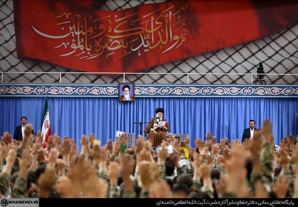 رهبر معظم انقلاب در دیدار بسیجیان سراسر کشور:ایران عزیز در آیندهای نه چندان دور به همه اهداف انقلاب خواهد رسید