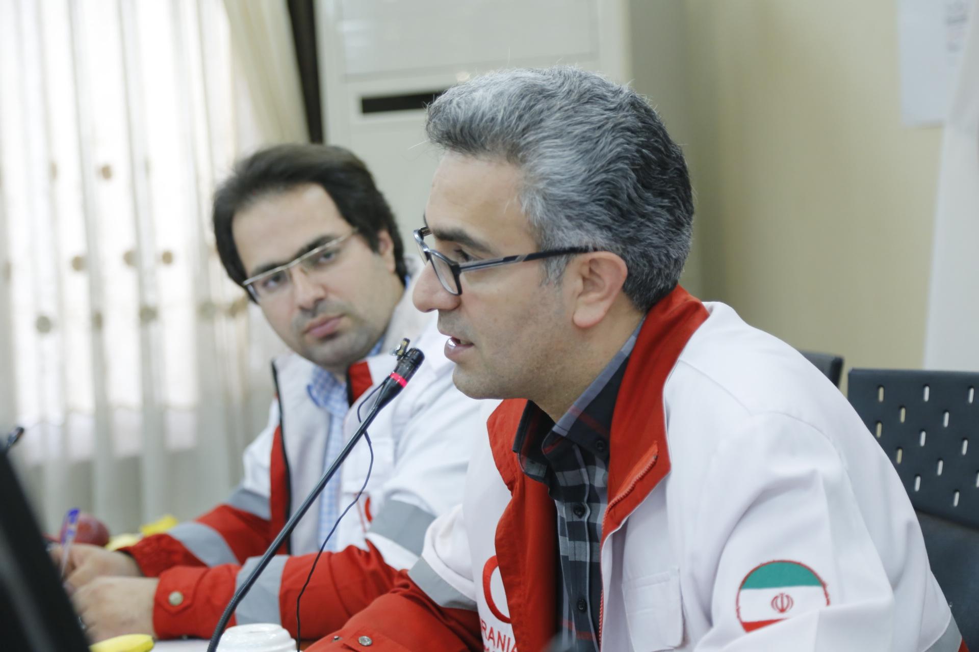 نشست خبری مدیر عامل جمعیت هلال احمر مازندران برگزار شد