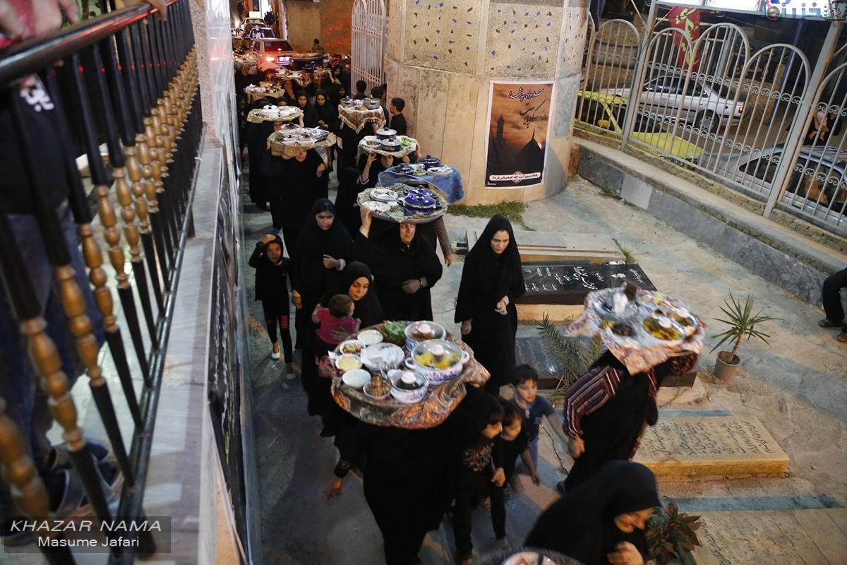 آیین سنتی مجمع گذاری و اطعام دهی در روستای کوهستان بهشهر/ تصاویر