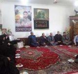 خانواده شهید مدافع حرم بهشهر تجلیل شدند