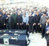 تشییع پیکر والدین شهید نجفی در بهشهر